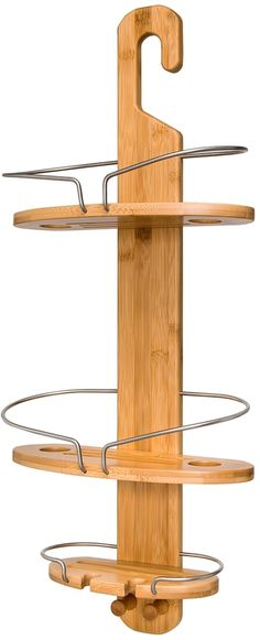 This is much nicer looking than a metal shower caddy. A nice looking piece of bathroom decor. Honey Can Do Bamboo Shower Caddy. Afflink