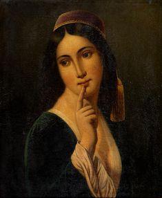 Greek Beauty, French School, Greek Art, Bond Street, Folk Costume, Female Portrait, Oil On Canvas, 19th Century, Mona Lisa