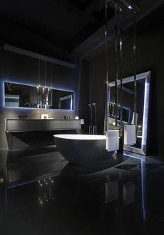 Home Room Design, Dream Home Design, Modern House Design, Dream House Interior, Luxury Homes Dream Houses, Black Interior Design, Luxury Interior, Bathroom Design Luxury, Dark Interiors