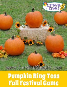 Pumpkin Ring Toss Fall Carnival Game