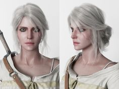 Ciri Witcher, Witcher Art, The Witcher Wild Hunt, The Witcher 3, Lady Maria, Skull Face, Game Character, Most Beautiful Women, Female Characters