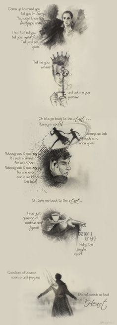"""By Sash-kash on DevianArt. IT""""S SHERLOCK AND COLDPLAY LYRICS! That's pretty much the best thing ever."""