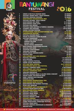 Banyuwangi Gelar 53 Festival Sepanjang 2016 yang siap memanjakan anda. Yuk catat jadwal 53 festival spektakuler di Banyuwangi sepanjang tahun