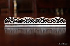 Hand Carved Indian Wood Block Stamp Block- Lace Border