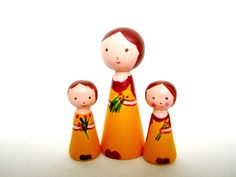 Custom made dolls Personalised Mothers day gift Set by PoppekeArt, $49.00