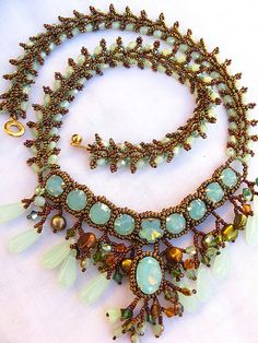 New Opal Imperial necklace by Cielo Design, via Flickr
