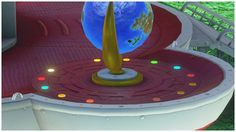 Another amazing SMO Detail - If you 100% the moons in a level the Odyssey illuminates the corresponding light under the Globe