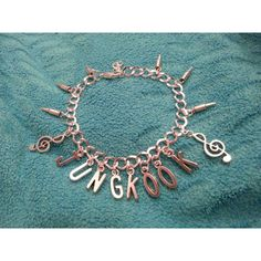 Kpop BTS Jungkook Bracelet ($9.50) ❤ liked on Polyvore featuring jewelry, bracelets, bracelet bangle and bracelet jewelry