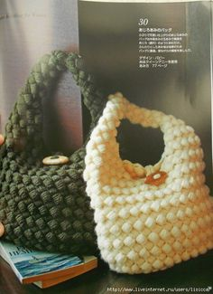 Cute Crochet Bobble Stitch Bag: fully charted