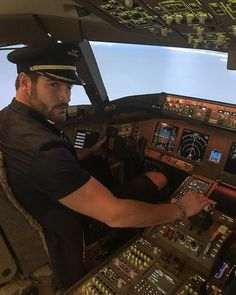 Captain Nick Bateman takes control Nick Bateman, Pilot Uniform, Men In Uniform, Maria Corrigan, Don Papa, Ugly Love, Cody Christian, Hot Hunks, Bear Men