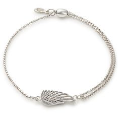 Wing Pull Chain Bracelet (240 ILS) ❤ liked on Polyvore featuring jewelry, bracelets, chains jewelry and wing jewelry