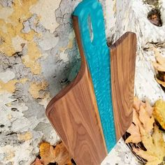 Custom Walnut and Alder Wood Cutting boards, serving trays and charcuterie boards with color epoxy inlay Shown In Walnut and Bora Bora Blue w/handle Bright Paintings, Wood Cutting Boards, Serving Trays, Bora Bora, Charcuterie, Dark Colors, Vintage Decor, Industrial Style, Epoxy