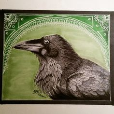 Raven Drawing by Artdynamo