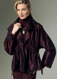 V9135   Misses' Drawstring-Waist Vest and Jacket   Vogue Patterns