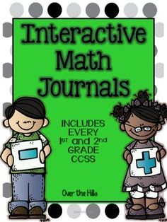 Interactive Math Journals- {ALL 1st and 2nd grade CCSS included} $