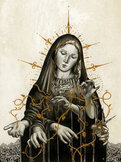 Jared Tuttle: Illustration based off of a story from Greek mythology called The Three Sisters of Fate La Madone, Lady Madonna, Season Of The Witch, 3d Studio, Sacred Feminine, Pop Surrealism, Arte Pop, Blessed Mother, Religious Art
