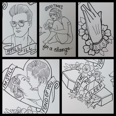Morrissey/ Smiths tattoo flash Done by Shannon Reed / Norfolk, VA / Instagram : shannonreedtattoo