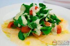 Receita de Carpaccio de abacaxi com agrião e tomate em receitas de saladas, veja essa e outras receitas aqui!