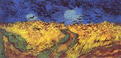 18. Vincent Van Gogh. Trigal con cuervos. 1890.