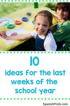 Learn 10 fun and interactive ideas to in your classroom or with your grade level at the end of the school year. These fun and memorable activities will create memories and help you pass the last weeks of school quickly. Some ideas include a countdown, water day, field day, international culture day and much more. Pin and click thru. to read all of the ideas for your Kindergarten, First grade or second grade bilingual or dual language Spanish class.