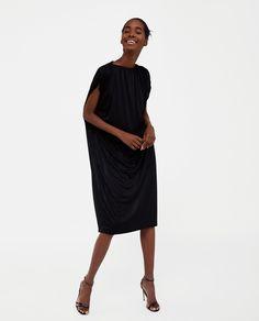 DRAPED SHOULDER DRESS from Zara