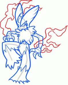 How To Draw Mega Blaziken Step By Pokemon Characters Anime