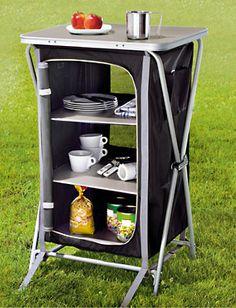 Mueble de almacenaje verde campamento pinterest for Mesa camping decathlon