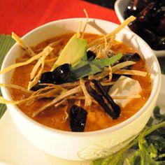 Sopa Azteca o sopa de tortilla, riquisima! Authentic mexican Tortilla Soup