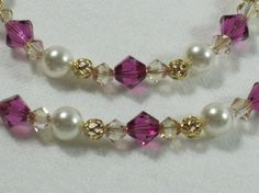 Sangria Flower Girl Jewelry with Swarovski Crystals and Pearls, custom jewelry also available!