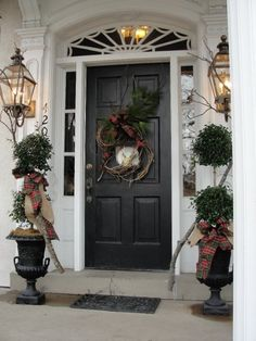 Front porch decor from Nell Hill's