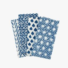 Shake up classic blue and white with our Indigo Block Print Nila Mix Napkins from Walter G. This playful mix patterns is perfect for any table top.