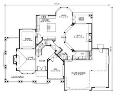Arts and Crafts House Plan First Floor - 071D-0171 | House Plans and More