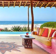 Las Alamandas Beach Resort Mexico -A List Hideaway in Hot Colors