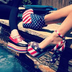 Jefferey Campbell 4th of July Pumps