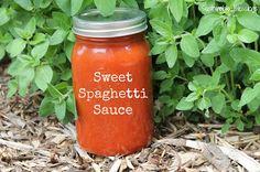 The best homemade spaghetti sauce I have ever made! Sweet Spaghetti Sauce!