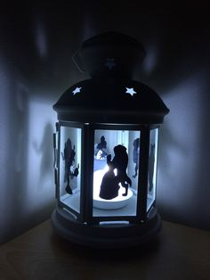 Beauty and the beast lantern ideal for birthday, decor, wedding , mother day, rememberance by LoveartsGifts on Etsy