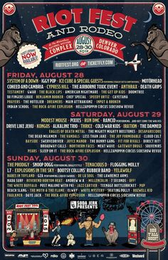 I just entered to win tickets to #RiotFest & Rodeo in #Denver from my friends at For the Love of Punk and Soda Jerk Presents! Help me out by entering with this link.