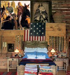Ralph Lauren's Bedroom at Colorado Ranch in San Juan Mountains Fashion Designers at Home: Diane von Furstenberg, Isaac Mizrahi, and more Photos…