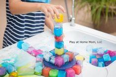Fun Games For Kids At Home Activities Plays Ideas Kids Activities At Home, Fun Games For Kids, Indoor Activities, Sensory Activities, Infant Activities, Crafts For Kids, Classroom Activities, Summer Activities, Ice Blocks