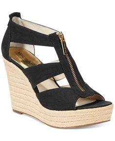13576035f1b3 MICHAEL Michael Kors Damita Platform Wedge Sandals Platform Wedges Shoes