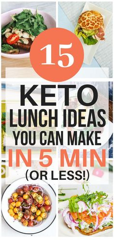 These keto lunch ideas are THE BEST!I'm so glad I found these AWESOME ketogenic lunch recipes that only take 5 minutes to make! Now I have some great lunch ideas to eat on the keto diet. #ketodiet #ketogenicdiet #ketodietrecipes #ketogenicdietrecipes #ketolunch