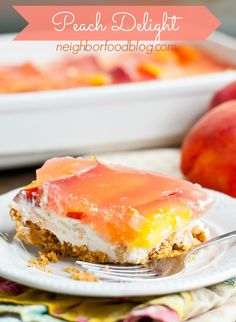 This Peach Delight is the perfect no bake dessert for summer!
