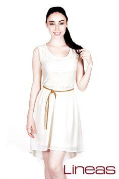 Vestido, Modelo 17556. Precio $220 MXN #Lineas #outfit #moda #tendencias #2014 #ropa #prendas #estilo #primavera #outfit #vestido