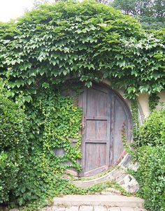 Looks like an entrance to a hobbit's home.