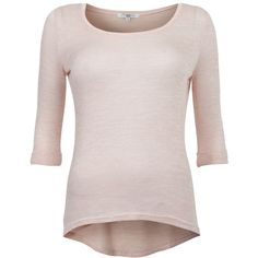 Shell Pink Roll Sleeve Top ($14) via Polyvore