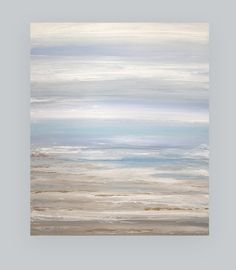 Art Abstract Painting Canvas Acrylic Beach by OraBirenbaumArt, $365.00