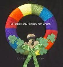 St. Patrick's Day Yarn Wreath Tutorial