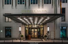 Entrance of the Ritz Carlton Hotel, Potsdamer Platz, Berlin, Germany