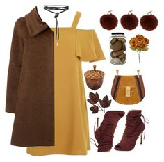 """""""Fall"""" by menke-mode ❤ liked on Polyvore featuring Yves Salomon, Elorie, Topshop, MaxMara and Chloé"""
