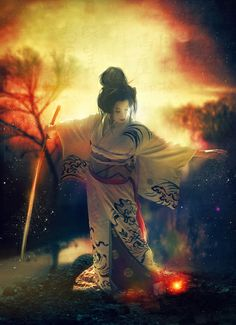 World of Color by Phatpuppyart-Studios on DeviantArt Fantasy Female Warrior, Warrior Girl, Fantasy Women, Fantasy Girl, Dark Fantasy, Female Art, Warrior Women, Katana Girl, Art Of Fighting